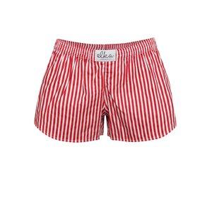 Boxeri de damă El.Ka Underwear roșii cu dungi