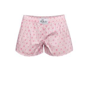 Boxeri de damă El.Ka Underwear roz cu model