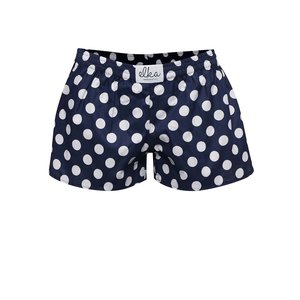 Boxeri de damă El.Ka Underwear albaștri cu buline