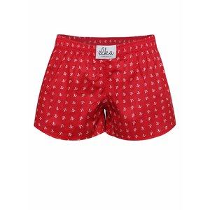 Boxeri de damă El.Ka Underwear roșii cu model