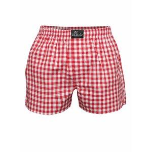 Boxeri El.Ka Underwear roșii în carouri