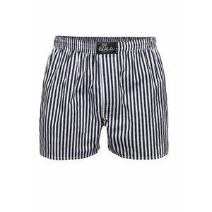 Boxeri alb & albastru El.Ka Underwear din bumbac cu model în dungi