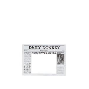 Magneți de frigider alb & negru Donkey Daily Hero
