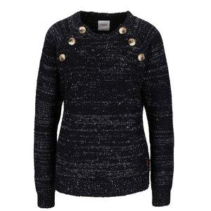 Vero Moda, Pulover negru melanj Vero Moda Emma cu nasturi decorativi