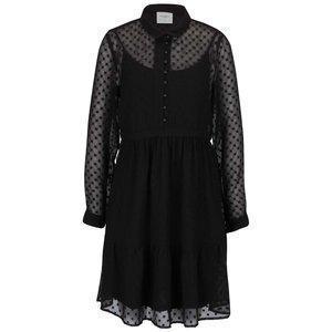 Rochie neagră Vero Moda Lucy semitransparentă