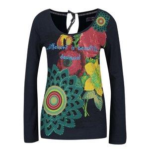 Desigual, Bluză bleumarin Desigual Ruth cu model floral