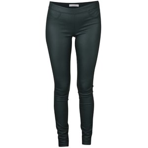 Pantaloni verde închis VILA Commit din piele sintetică