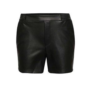 Pantaloni scurți negri VILA Pen din piele sintetică