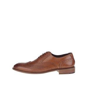 Pantofi oxford maro Gatsby London Brogues