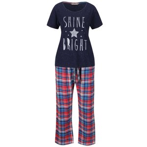 Pijamale albastru-roșu Dorothy Perkins cu print