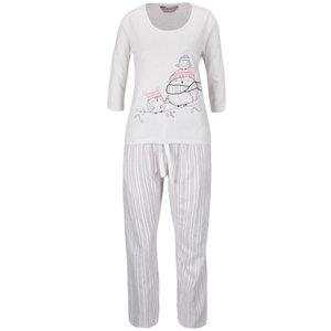 Pijamale roz-crem Dorothy Perkins cu print