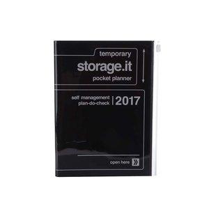 Agendă neagră 2017 A5 Mark's STORAGE IT.