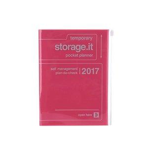 Agendă roz neon 2017 A5 Mark's STORAGE IT.