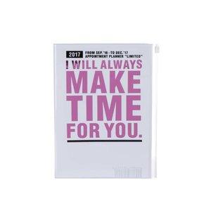 Agendă alb cu roz 2017 A5 Mark's MAKE TIME