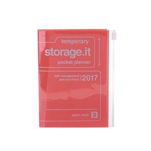 Agendă portocalie 2017 A6 Mark's STORAGE IT.
