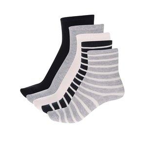 Set de 5 perechi de șosete gri & alb & negru name it