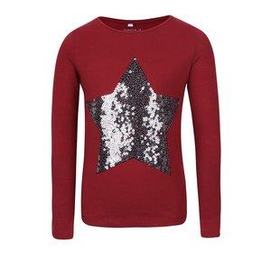 Bluză roșu burgundy name it Pasta cu print pentru fete