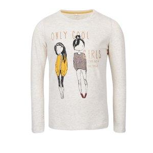 Bluză crem name it Katty cu print pentru fete