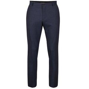 Selected, Pantaloni albastru închis Selected Homme Done cu model discret