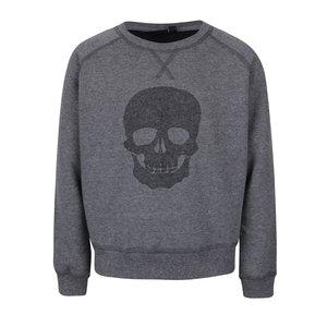 Bluză gri închis name it Theis cu print pentru băieți
