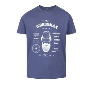 Tricou albastru name it Mattis din bumbac cu print pentru băieți