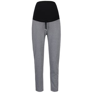 Pantaloni sport gri Mama.licious Tweed cu model discret și porțiune elastică înaltă