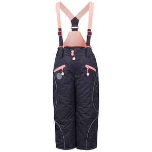 Pantaloni gri 5.10.15. cu bretele roz pentru fete