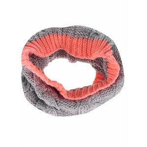 Eșarfă tubulară gri & corai 5.10.15. pentru fete