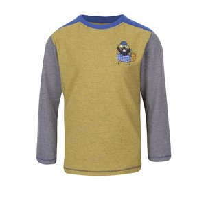 Bluză gri & galben 5.10.15. din bumbac cu print pentru băieți