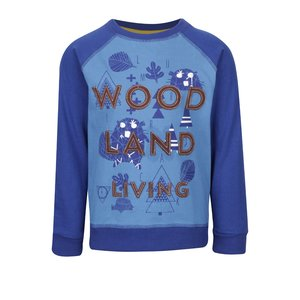 Bluză albastră 5.10.15. din bumbac cu print pentru băieți