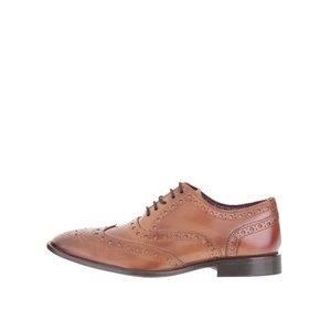 Pantofi oxford maro London Brogues