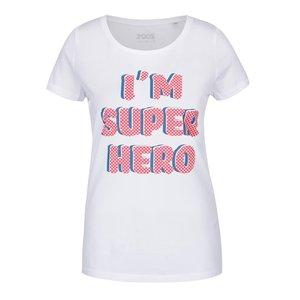 ZOOT Originál, Tricou alb ZOOT Original I am super hero din bumbac pentru femei