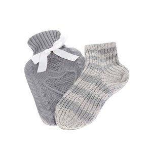 Set gri pungă termică și șosete tricotate Something Special la pretul de 91.99