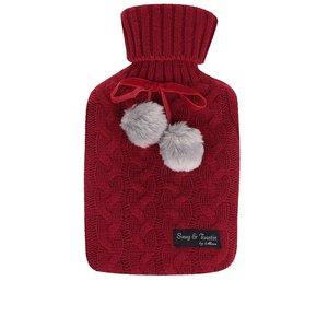 Pungă termică roșie Something Special cu husă tricotată