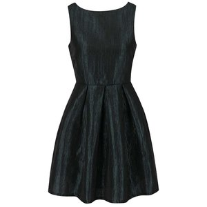 Rochie neagră cu aspect lucios VILA Ewa
