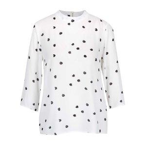 Bluza Crem Vero Moda Dottie Cu Imprimeu Si Maneci