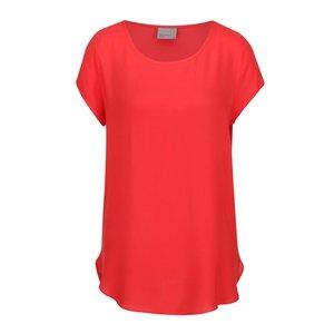 Bluză roșie Vero Moda Boca cu mâneci scurte la pretul de 69.99