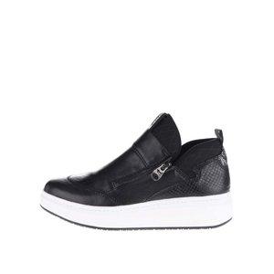 Pantofi sport negri cu fermoar Tamaris