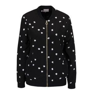 Vero Moda, Jachetă bomber neagră Vero Moda Dottie cu imprimeu