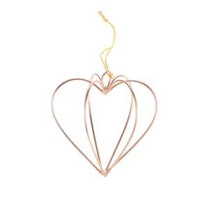 Decorațiune de culoarea cuprului în formă de inimă Sass & Belle la pretul de 22.99