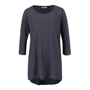 Bluză albastră ONLY Casa din bumbac cu tiv asimetric și model discret la pretul de 69.99