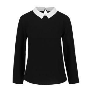 Bluză neagră ONLY Turner cu detalii crem