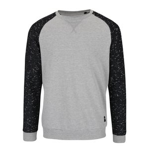 ONLY & SONS, Bluză gri deschis & negru ONLY & SONS Peter din bumbac cu model discret