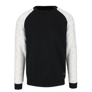Bluză neagră & crem ONLY & SONS Peter din bumbac cu model discret