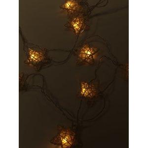 Instalație cu lumini galbene decoLED în formă de stea