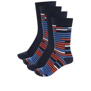 Set de 4 perechi de șosete albastru & portocaliu Jack & Jones Christian la pretul de 45.99