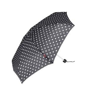 Umbrelă neagră s.Oliver cu buline albe