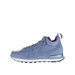 Pantofi sport albaștri Nike Internationalist Mid Leather din piele cu imprimeu pentru femei la pretul de 509.99