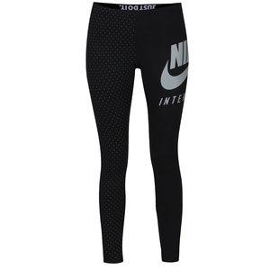 Colanți negri Nike International cu print