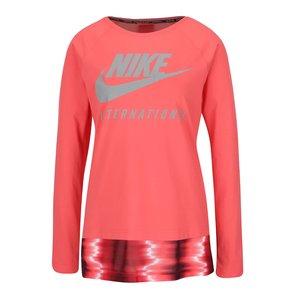 Bluză corai Nike International Top cu print cu logo pentru femei